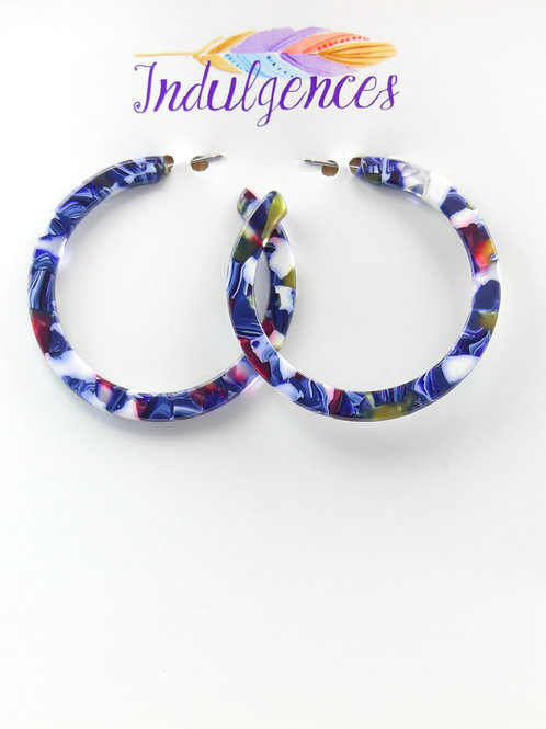 Medium 3-5 Color Mixed Epoxi Hoops