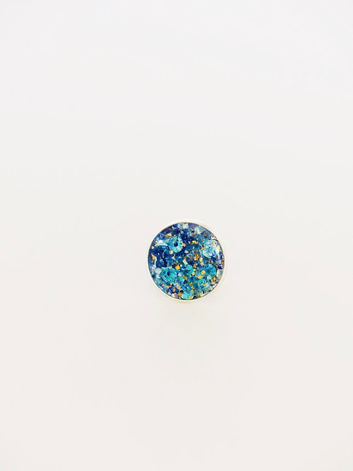 Shades of Blue Sparkling Ring