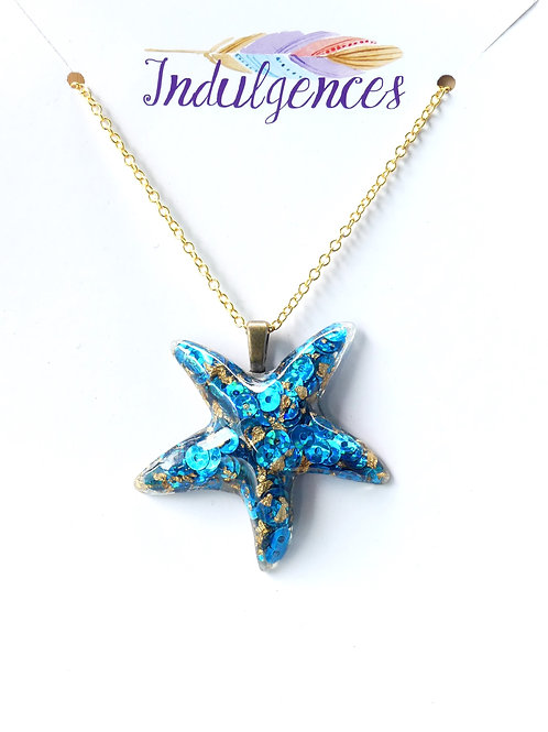 Blue and gold Starfish NKCM