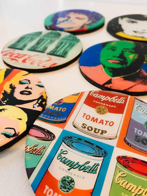 Pop Art Warhol Inspired Coasters