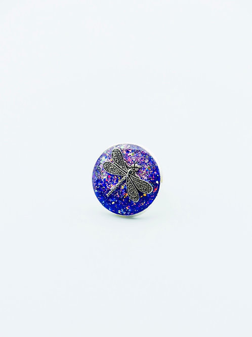 Dragonfly in Purple Ring