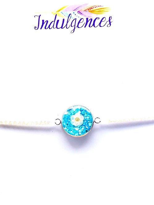 White Bracelet with Flower