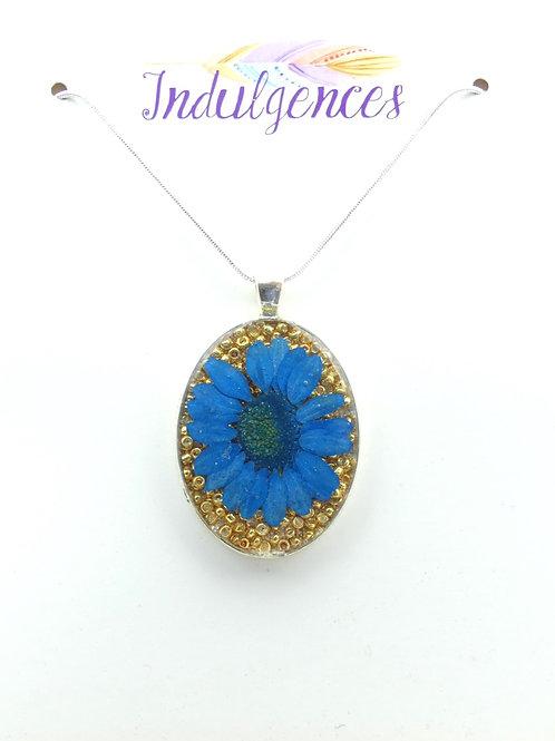 Blue flower in beads NKDX