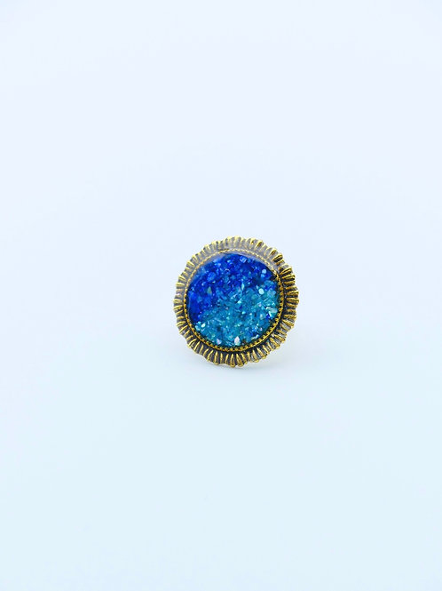 Sparkling Shades of Blue Ring