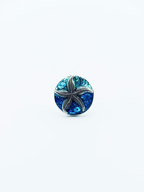 Starfish Shades of Blue Ring