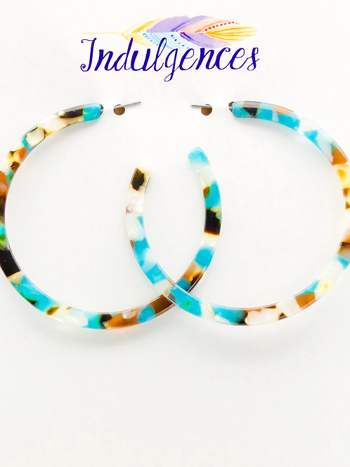 Large 3 Color Mixed Hoops