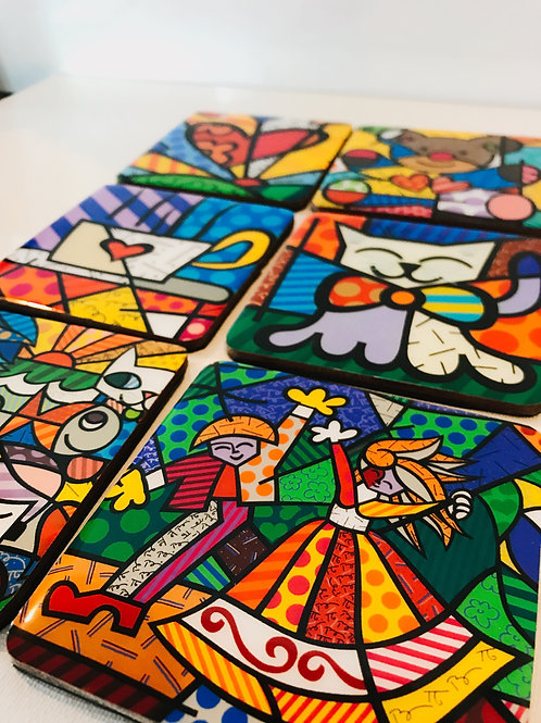 Britto Inspired Coasters