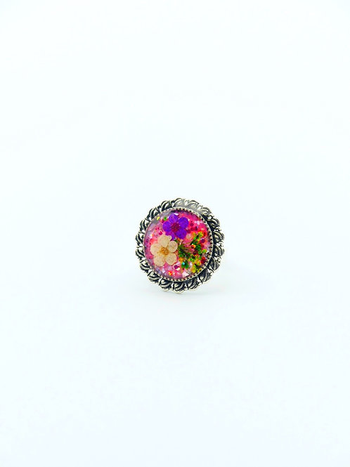 Flowers in Pink Ring