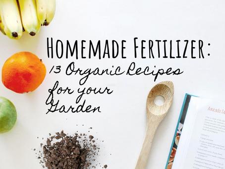 Homemade Fertilizer: 13 Organic Recipes for your Garden