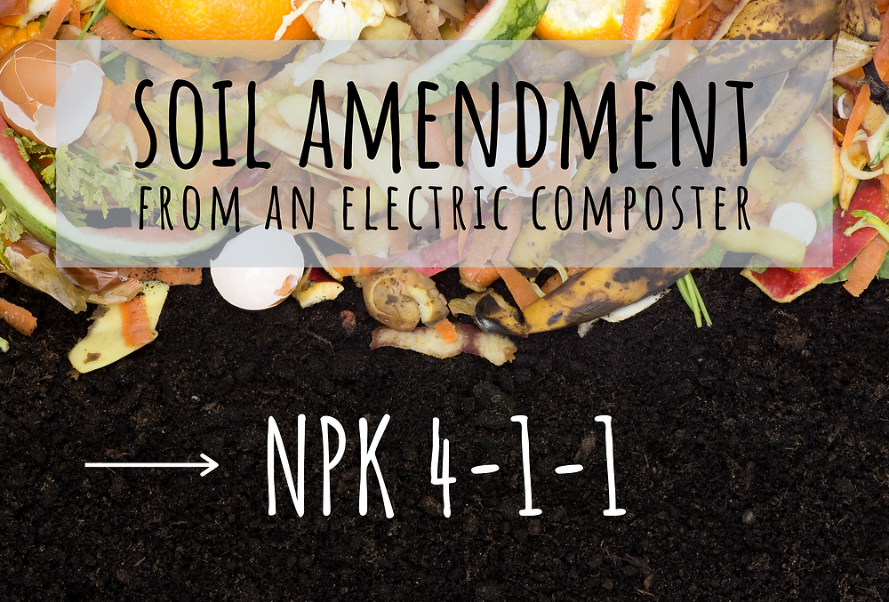 soil amendment, soil conditioner, gardening, FoodCycler, food recycling, zero-waste, food-waste management, biomatter, electric composter