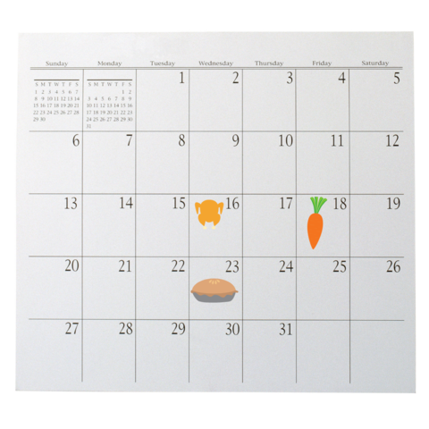 Best before date food calendar
