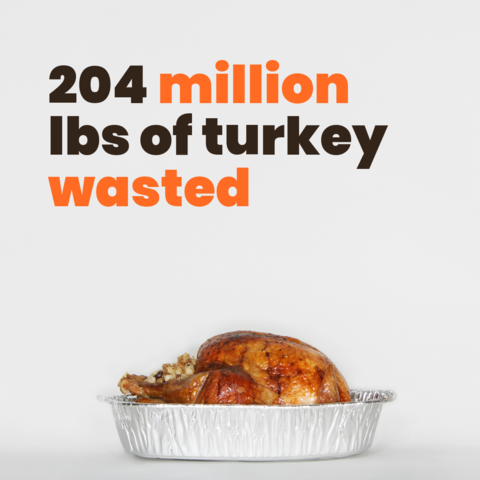 204 million lbs of turkey wasted