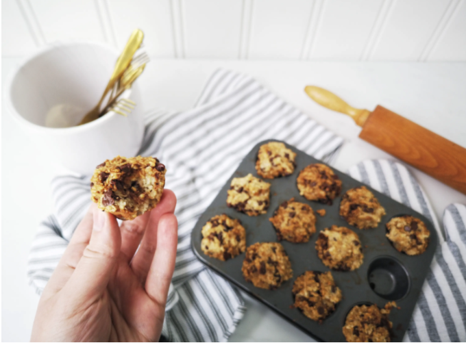 zero waste, food recycling, oatmeal muffins, three-ingredient oatmeal muffins, food waste