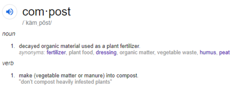 Food Cycler, compost definition