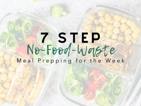 7 Step No-Food-Waste Meal Prepping for the Week [PRINTABLES]