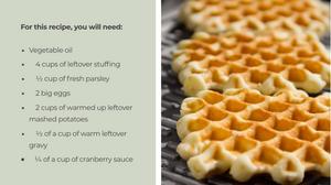 Leftover Stuffing Waffles