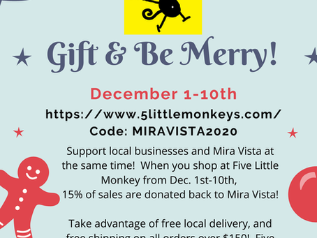 Support Local Businesses and Mira Vista at the Same Time!