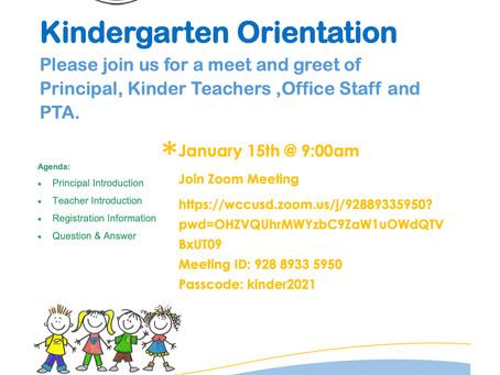 Save the Date: Kindergarten 2021-22 Orientation