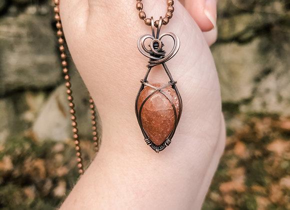 Sunstone Mini Pendant in Copper
