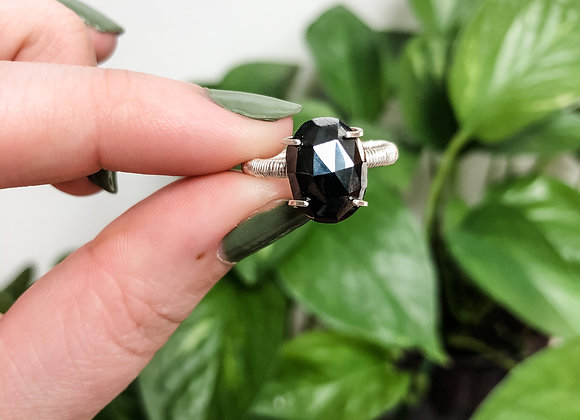 Hematite Ring in Sterling Silver (made to order)