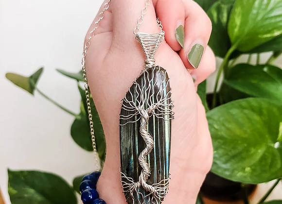 Labradorite Tree Of Life in Sterling Silver