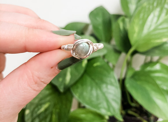 Labradorite Ring in Sterling Silver (made to order)