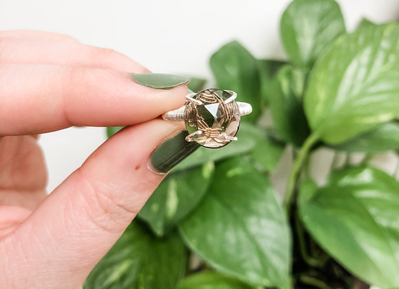 Smoky Quartz Ring in Sterling Silver (made to order)