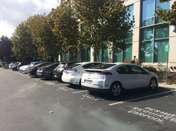 Employee EV parking in Sunnyvale, CA