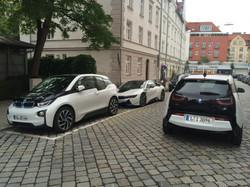When white BMWs meet at a station