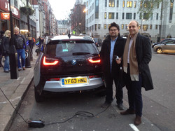 ELECTRIQUE team charging in London