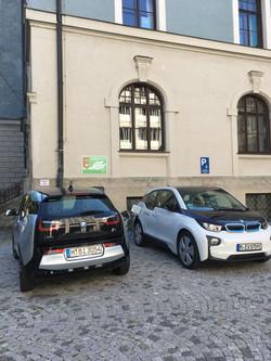 BMW i3s charging at MUC municipality