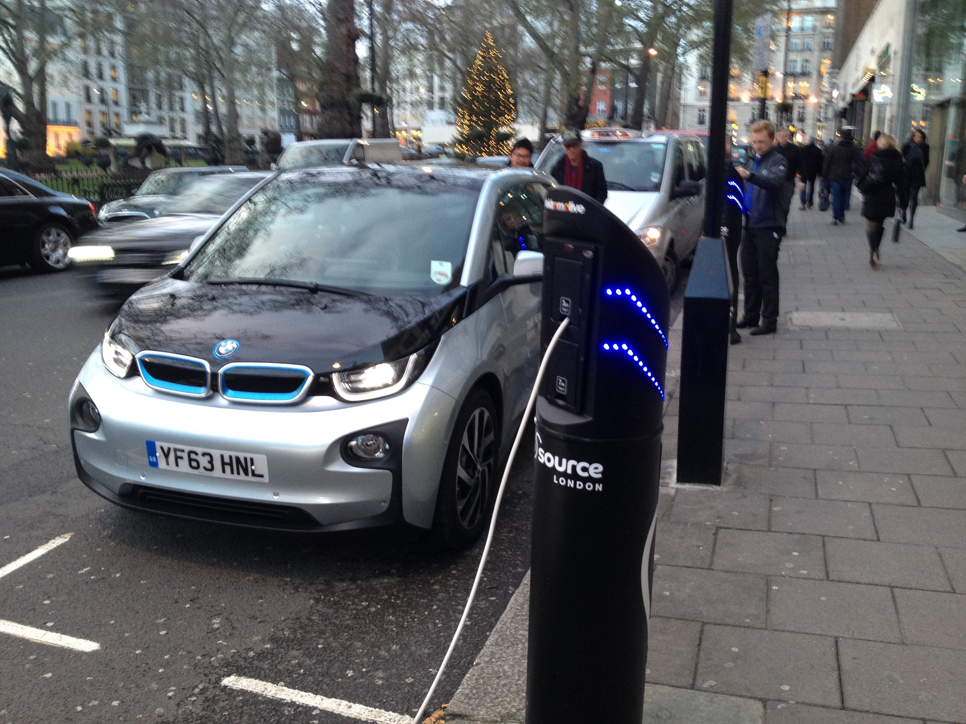 BMW i3 charging at Source London