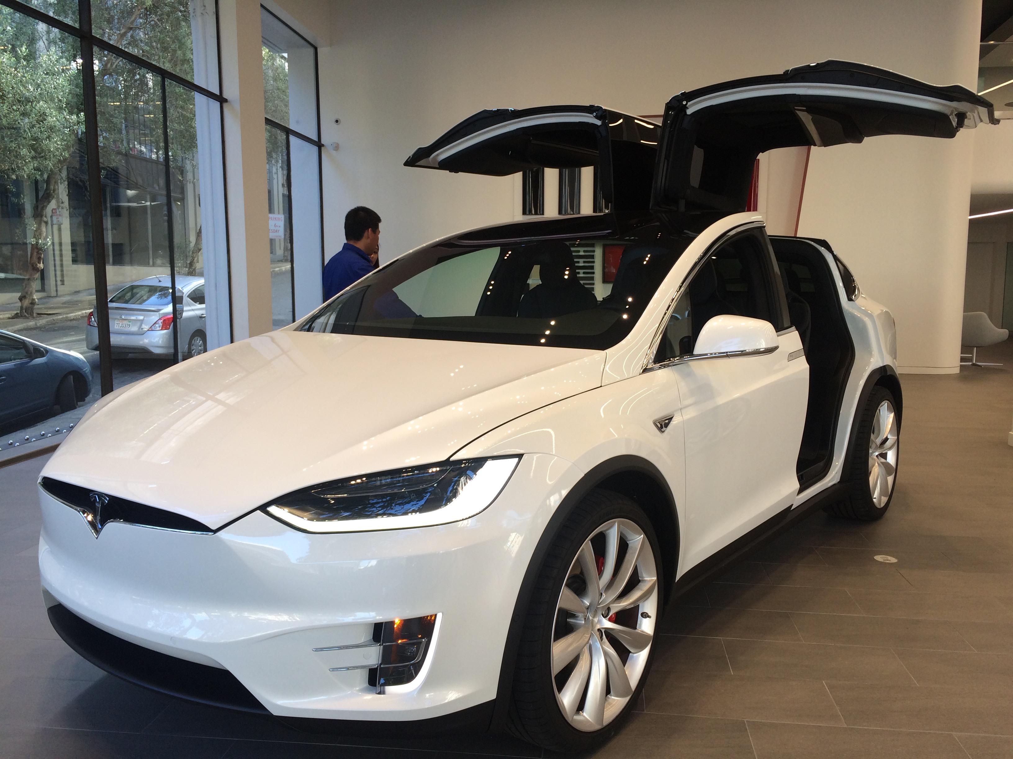 Tesla Model X in showroom