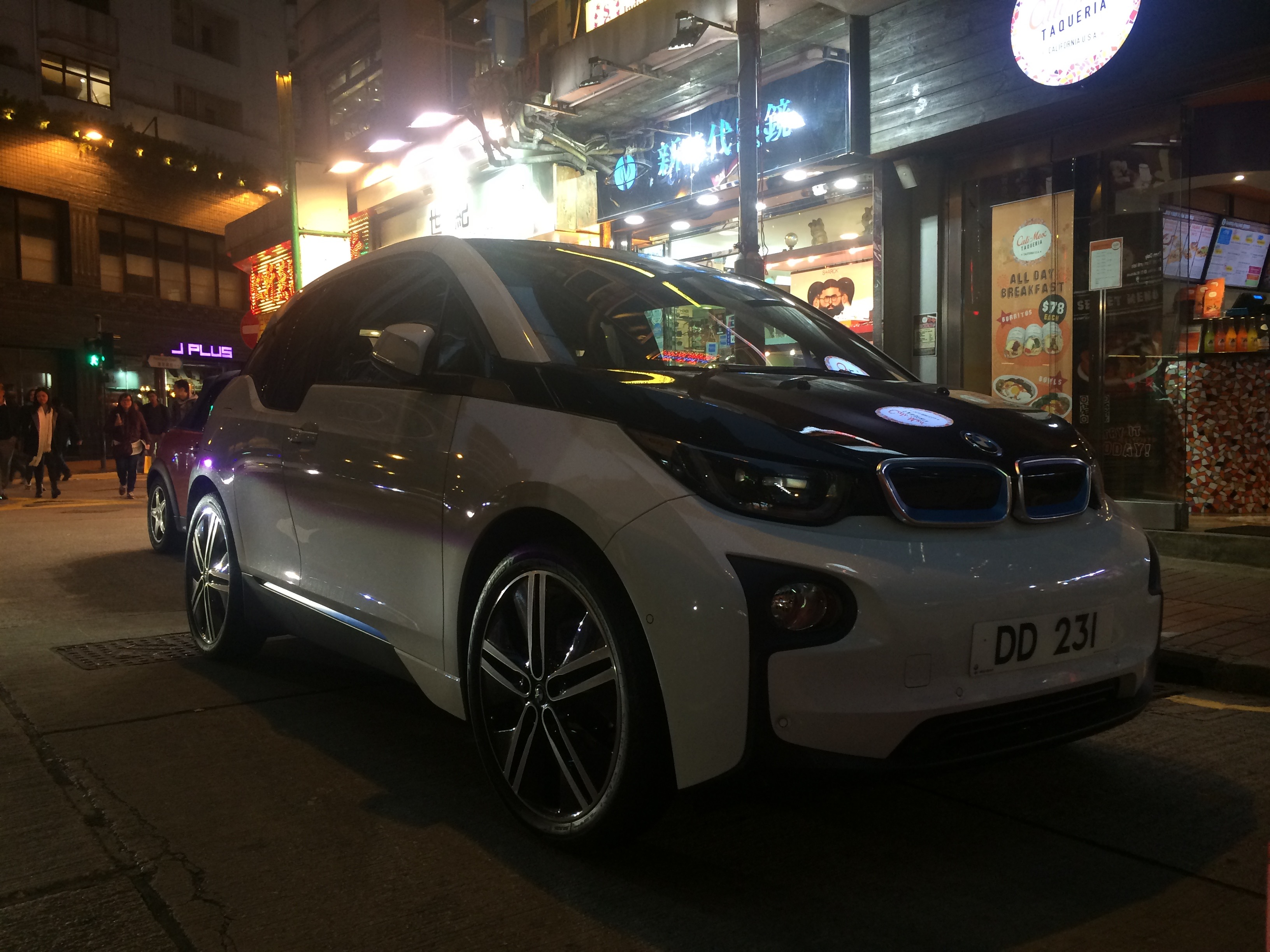 BMW i3 in Hong Kong Wan Chai area