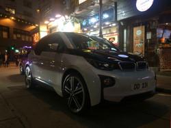 BMW i3 in Hong Kong Wan Chai area