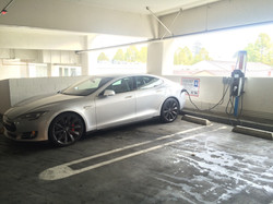 Tesla meets chargepoint in Sunnyvale