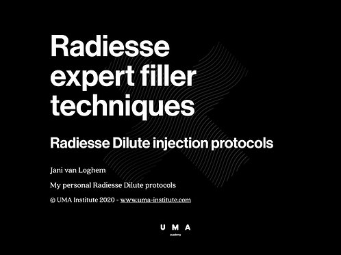 Jani's personal Radiesse Dilute injection protocols
