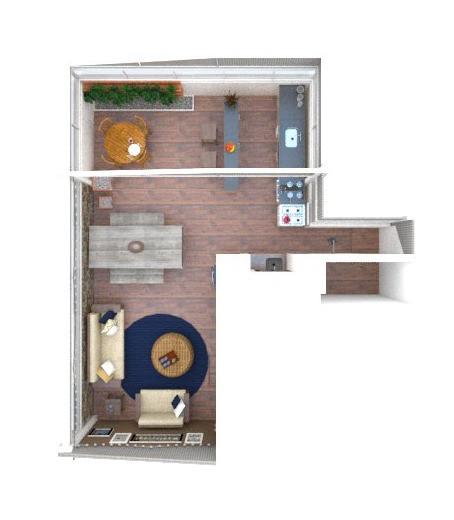 3D do Mude + da Área Gourmet da Cláudia - Projeto do HOC Arquitetura