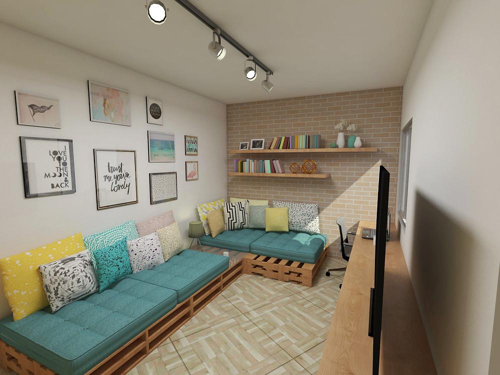 3D do Mude + da Sala da Lídia - Projeto HOC Arquitetura