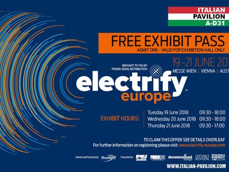 Electrify Europe 2018 formely Power-Gen Europe - Vienna, Austria, 19-21 giugno