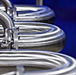 SilverLine food and beverage cooking system uses stainless steel piping