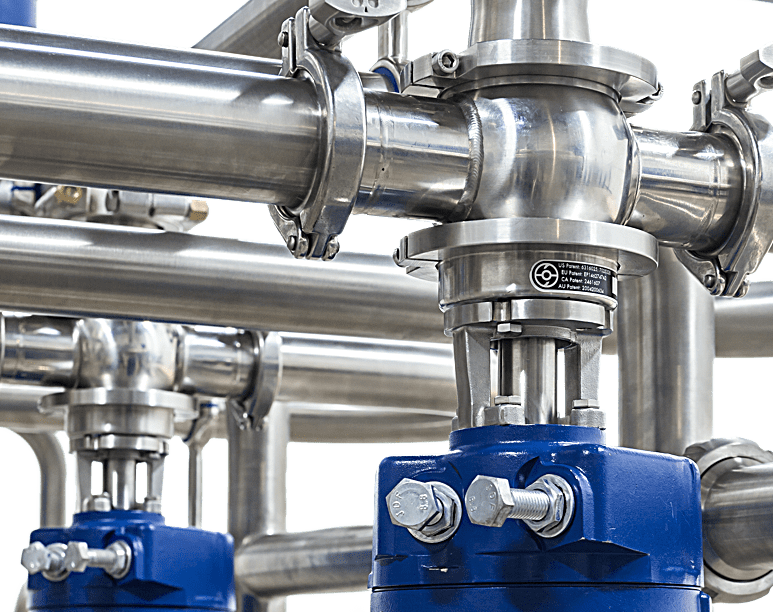 The hygienic SilverLine food and beverage processing system passes industrial hygiene certifications.