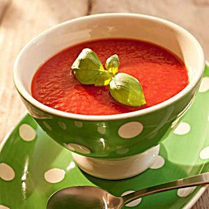 SilverLine cooking system cooks tomato soup perfectly so it achieves the ideal color