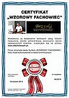 Certyfikat jakości Tomasz Brzyski