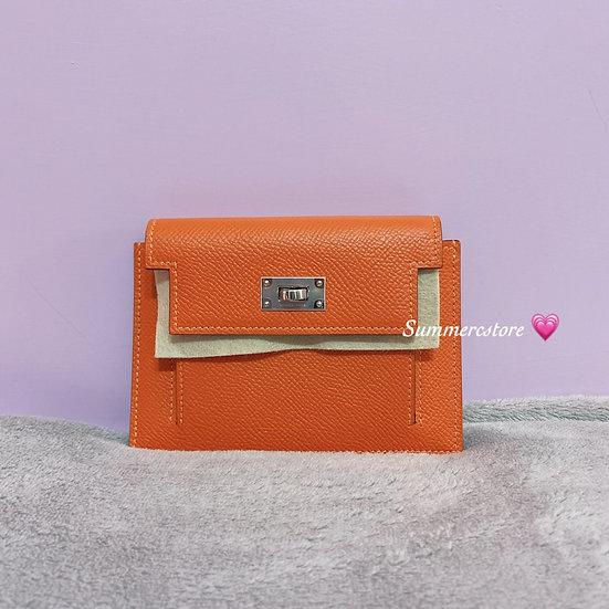 Hermes Kelly pocket in orange