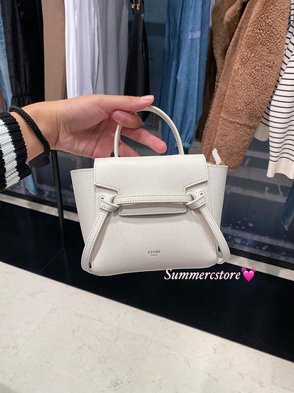 Celine Pico Belt New Color - White