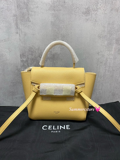 Celine pico belt in yellow