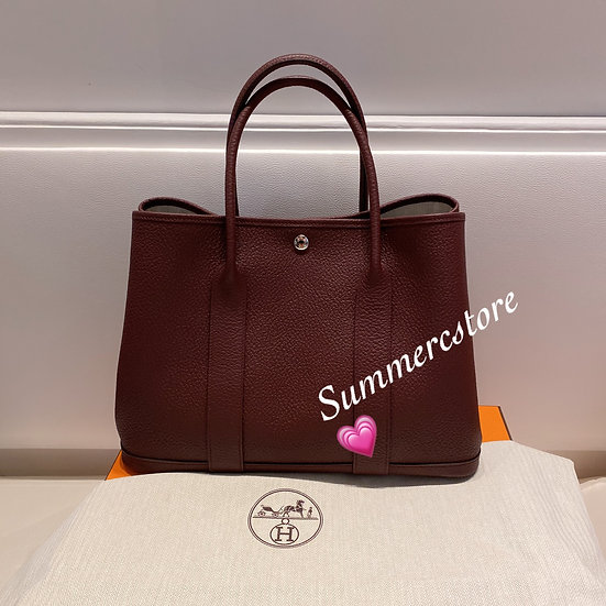 Hermes garden party 36 酒紅色