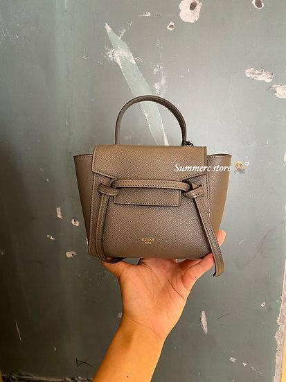 Celine pico belt bag in grey