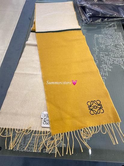 Loewe 羊毛頸巾 Size 30*180